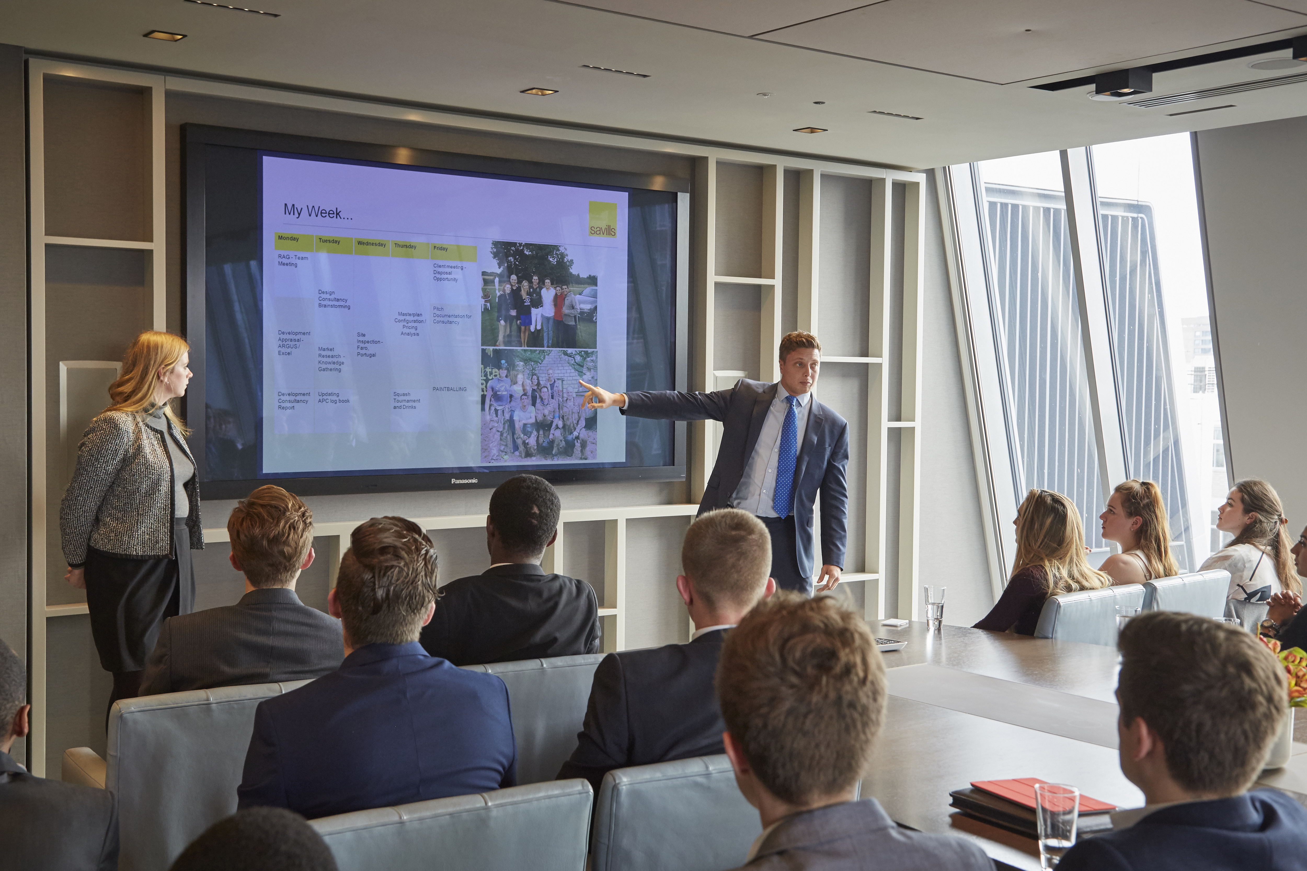 Pearson Business School students at Savills
